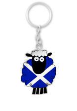 Scottish Saltire Multi Sheep Scotland Metal Handbag Purse Bag Keyring Charm