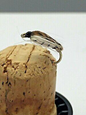 PESCA a mosca pesca alla trota PRIME COLLEZIONE corixa Ninfa x 12 MOSCHE Taglia 12
