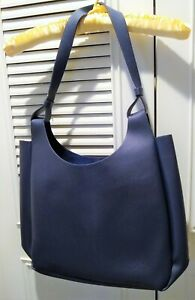 Neiman Marcus Tote Bag Large Navy Faux