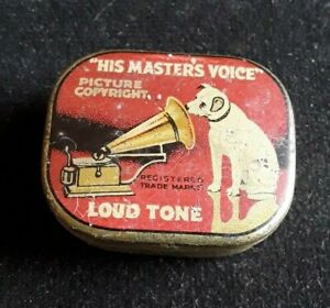 Vintage Gramophone Needles and Tin His Master's Voice  Loud Tone