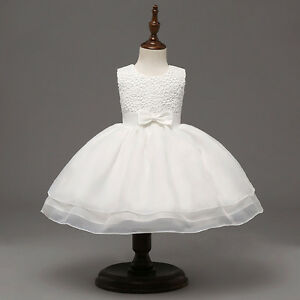 Baby Girl Tutu Princess Dress Wedding Birthday Party Christening Baptism Dresses