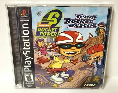 Rocket Power Team Rocket Rescue Ps1 Playstation 1 Black Label Complete 752919470572 Ebay