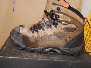 60f7d201b98 Details about Hyena Eiger Brown Leather Hiker Breathable Steel Toe Safety  Boots UK 7 - AA518