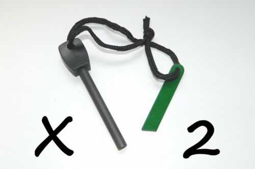 2 X Large Outdoor Survival Flint /& Steel Magnesium Rod Fire Striker Starter NEW