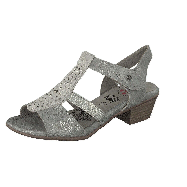 Relife donna Slide Scarpe Con Touch 8717-16707-03 elemento elemento elemento di fissaggio in Grigio Glitter 4f7e09