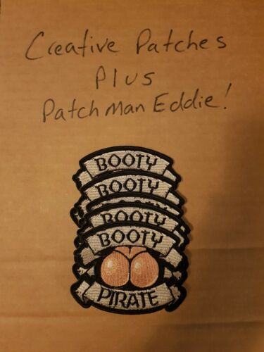 """4X3.5 inch NEW NICE BIKER PATCH Funny Patch /""""BOOTY PIRATE/"""""""