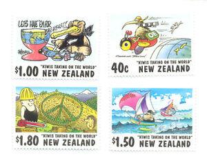 New Zealand-les Dessins Animés-neuf Sans Charnière Set (2118-21)-ns-mnh Set (2118-21)fr-fr Afficher Le Titre D'origine êTre Hautement Loué Et AppréCié Par Le Public Consommateur