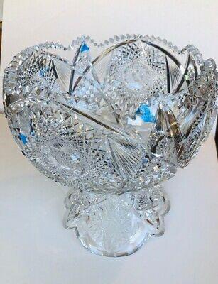 Abp Cut Gl Crystal Punch Bowl