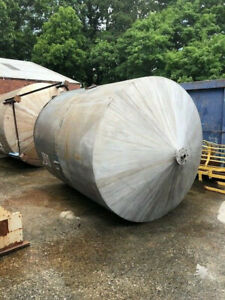 Stainless Steel Approx. 2200 Gallon Tank With Mixer, Motor, Gear Box Used