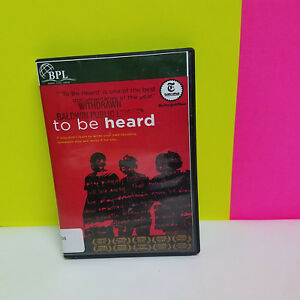 TO-BE-HEARD-DVD-2013-Ex-library-free-shipping-Bronx-Poetry-documentary-writers