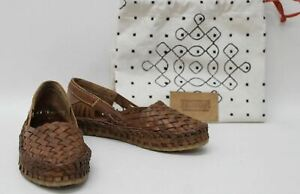 BNWT-MOHINDERS-Ladies-City-Shoe-Tan-Brown-Woven-Leather-Flat-Shoes-Size-UK5