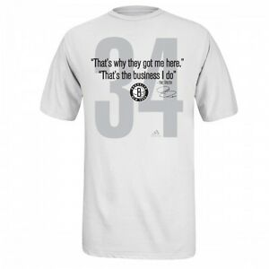 the best attitude 3a6e6 89a89 Details about Adidas Brooklyn Nets Paul Pierce Quote The Truth T-Shirt -  Men's Size 2XL NWT
