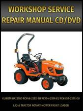 Kubota Bx2350d Tractor Rotary Mower Front Loader Service Repair Manual On Cd
