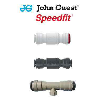 """John Guest Singolo /& Doppio Controllo Valvola di ritenuta 1//4 /"""" 3//8/"""" 6mm 8mm 10mm 12mm"""