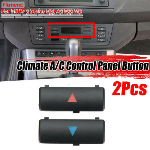 For BMW E39 E53 530i 540i M5 X5 Replacement Climate A//C Control Panel Button 2pc