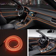 2M 12V EL Wire Orange Cold light Strip Neon Lamp Atmosphere Lights Unique Decor