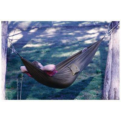 Hammock - 9' Full Size - With Carabiners - Carry Pouch - Heavy Duty - OD Green