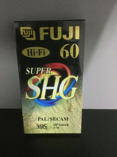 60 VHS Cassette  Hi Fi FUJI Super SHG E