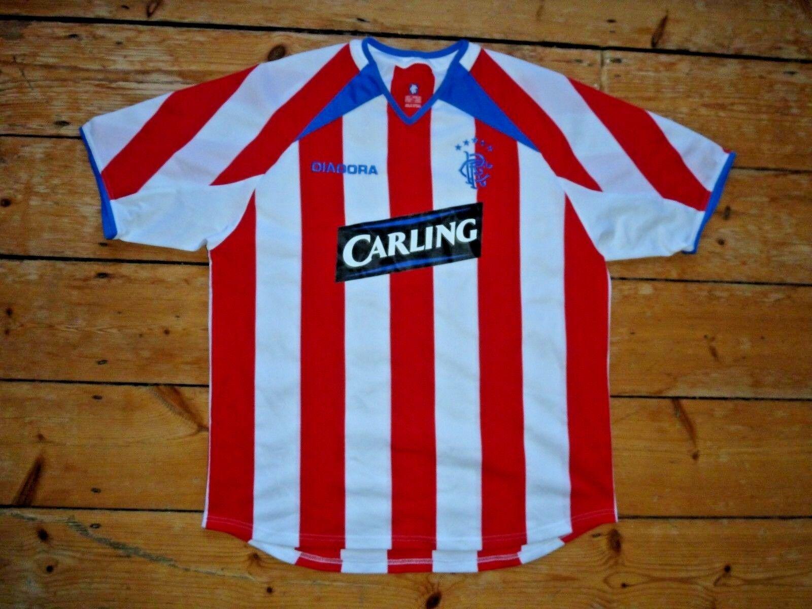 XL Glasgow Rangers Fußballtrikot Diadora 2003-04 Gers Fußballjersey Fußballjersey Gers 83ffd3