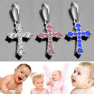 Kinder Erst Kommunion Paten Geschenk Taufe Kreuz Anhänger Echt Silber 925 Kette