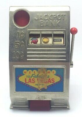 Vintage RENO Jackpot Slot Machine Metal & Plastic Bank Toy ...
