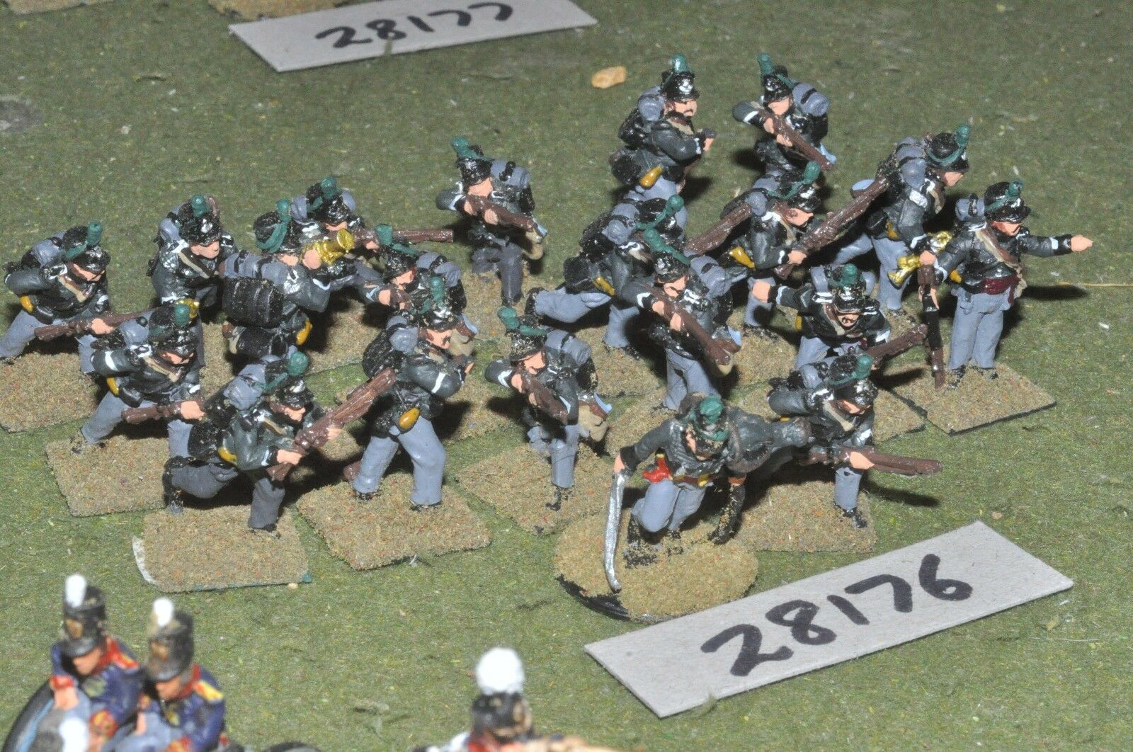 25mm napoleonic   british - riflemen 20 figures - inf (28176)