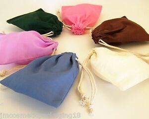 Drawstring-Cotton-Bag-10cm-x-13cm-Blank-Plain-Small-Party-Jewellery-Gift-Bag-17