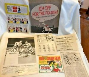 Lot of Vintage Magazine/Newspaper Advertisements Featuring COMIC CHARACTERS