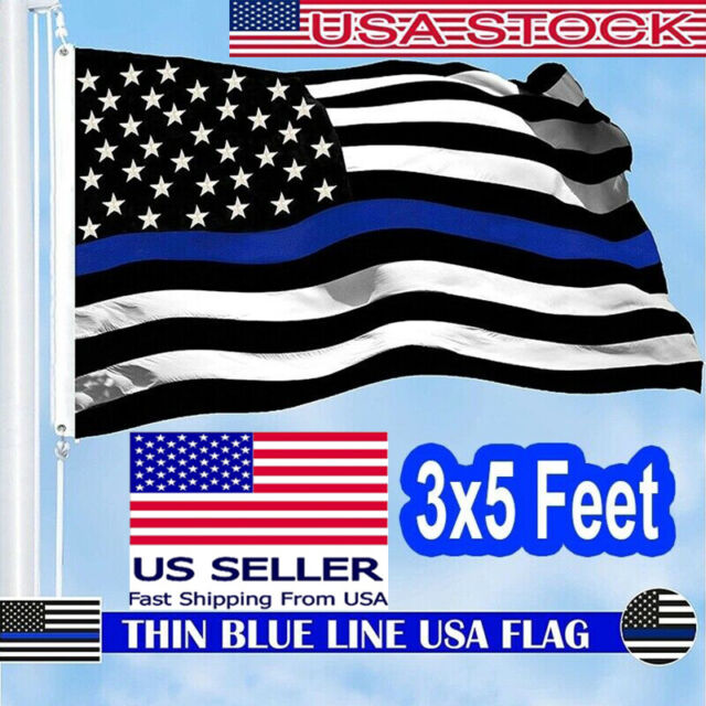 US LAW ENFORCEMENT BLUE LIVES MATTER AMERICAN POLICE Official 3x5/' Flags U.S.A