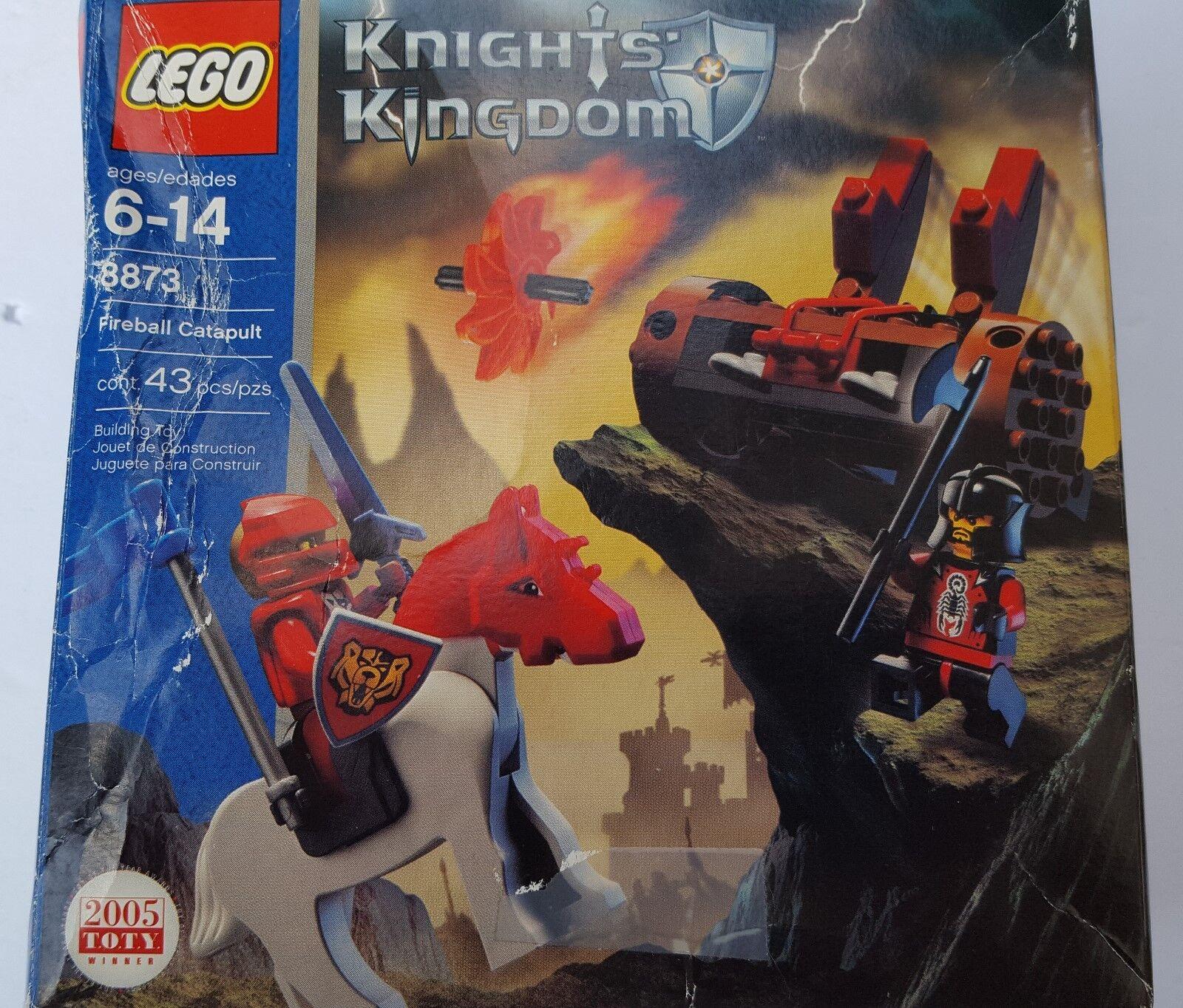Lego 8873 Caballeros Reino de fuego catapulta Rojo Negro Castillo Sir sartis Shadow
