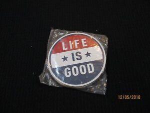 "2 pcs Life is Good Magnet Americana LiG Sph Misc 4"" NEW"