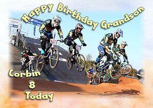 Personalised Boys Male Birthday Card BMX Bike Son Grandson Nephew Brother Godson