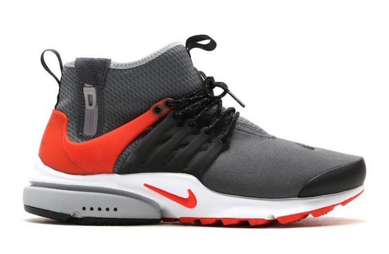 Nike air presto meta di grigio scuro rosso bianco nero 10 acronimo metà 859524 004