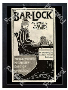 Historic-Bar-Lock-The-Typewriter-Co-Ltd-London-1890s-Advertising-Postcard-1