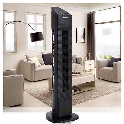 """Portable 30/"""" Tower Fan Oscillating Cooling Air Conditioner Bladeless 3 Speed US"""