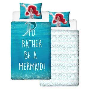 Disney-Princess-Shellfie-Ariel-Little-Mermaid-Housse-Couette-Simple-Set-Filles