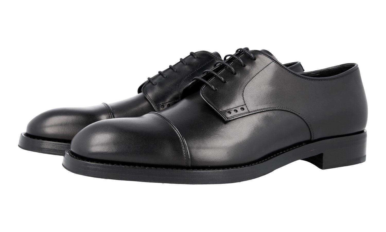 64ad242f Lujo cap Toe derby Business zapatos 2ea129 negro nuevo 9 43 43,5 prada  nbjsqb9604-Zapatos de vestir