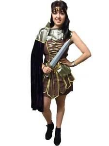 Roman centurian gladiator costume fancy dress woman amazonian image is loading roman centurian gladiator costume fancy dress woman amazonian solutioingenieria Choice Image