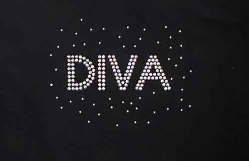DIVA Strass Diamonte Transfer Ferro su Hotfix Motivo Sparkle Bling personalizzare