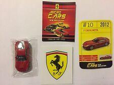 "DIE CAST FERRARI MICRO CARS "" F12 BERLINETTA - 2012 "" USCITA N° 10  1/100 KYOSHO"