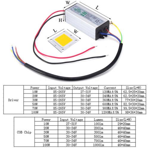 High Power LED 10W 20W 30W 50W 100W Waterproof Driver Supply LED SMD Chip Bulb
