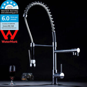 WELS-Swivel-Deck-Mount-Kitchen-Laundry-Sink-Faucet-Pull-Down-Spring-Mixer-Tap