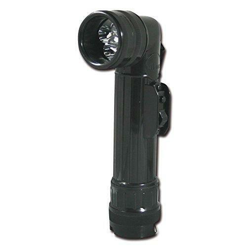 Black Mil-Tec US LED Angle Torch Lge//Black 21 cm