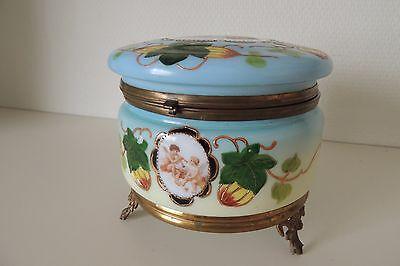 Genial Antik Biedermeier Zuckersdose /konfektdose /antique 13,5 Cm Glass Box Bequem Und Einfach Zu Tragen