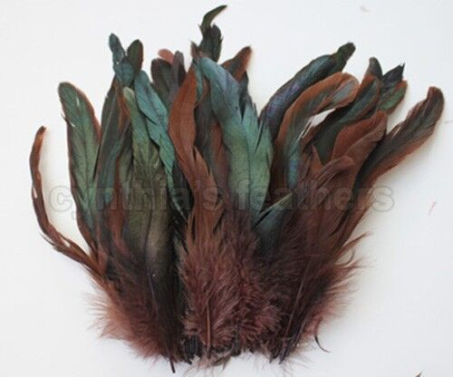 """16g 0.6oz 8-10/""""half bronze  schlappen coque rooster feathers,10+colors to pick"""