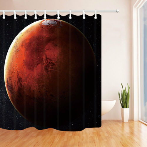 Solar System Mars planet Shower Curtain Bathroom Fabric /& 12hooks 71*71inches