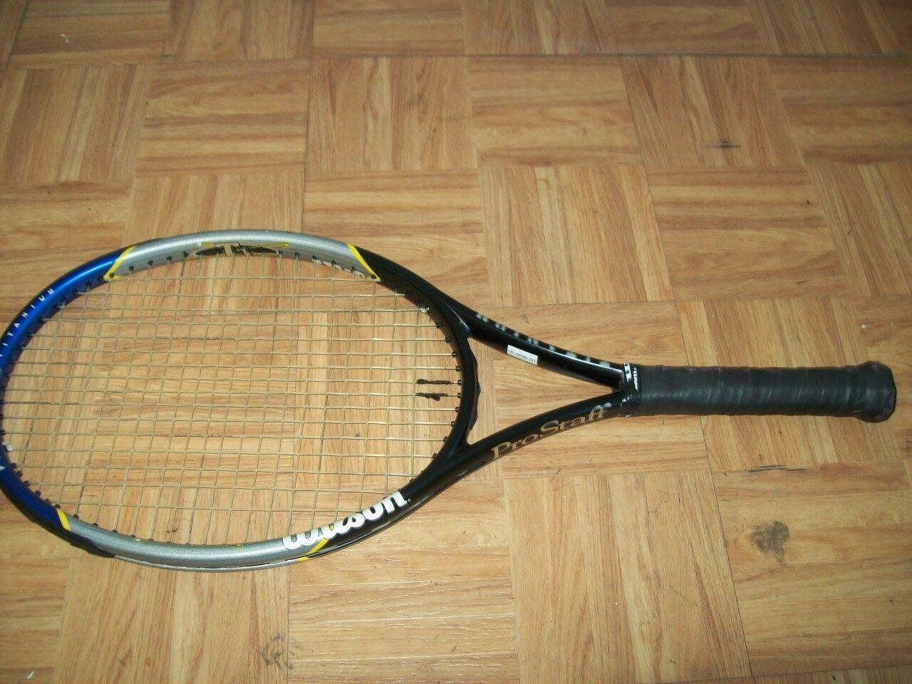 Wilson Pro Staff 6.6 6.6 6.6 Titanium OS 110 head 4 3/8 grip Tennis Racquet 681a7b