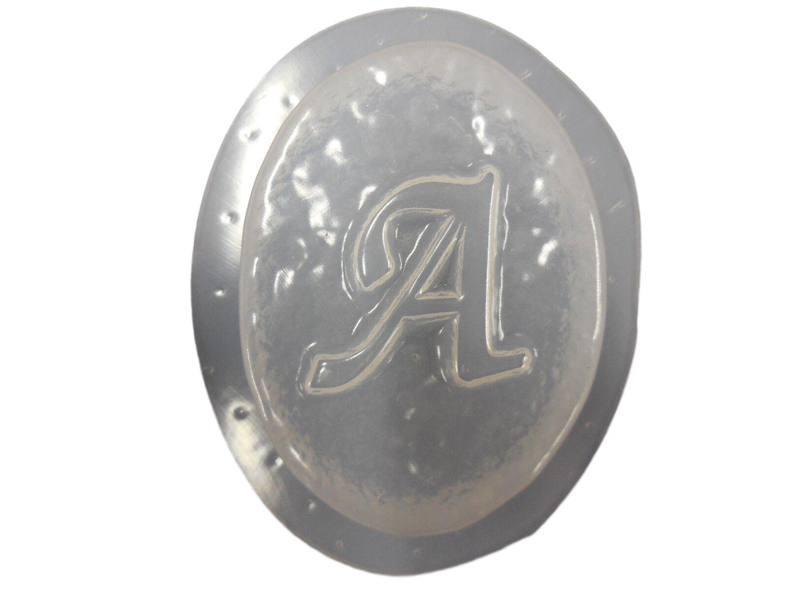 ALPHABET PLAQUE 4683 Moldcreations LETTER A BAR SOAP MOLD QTY 2