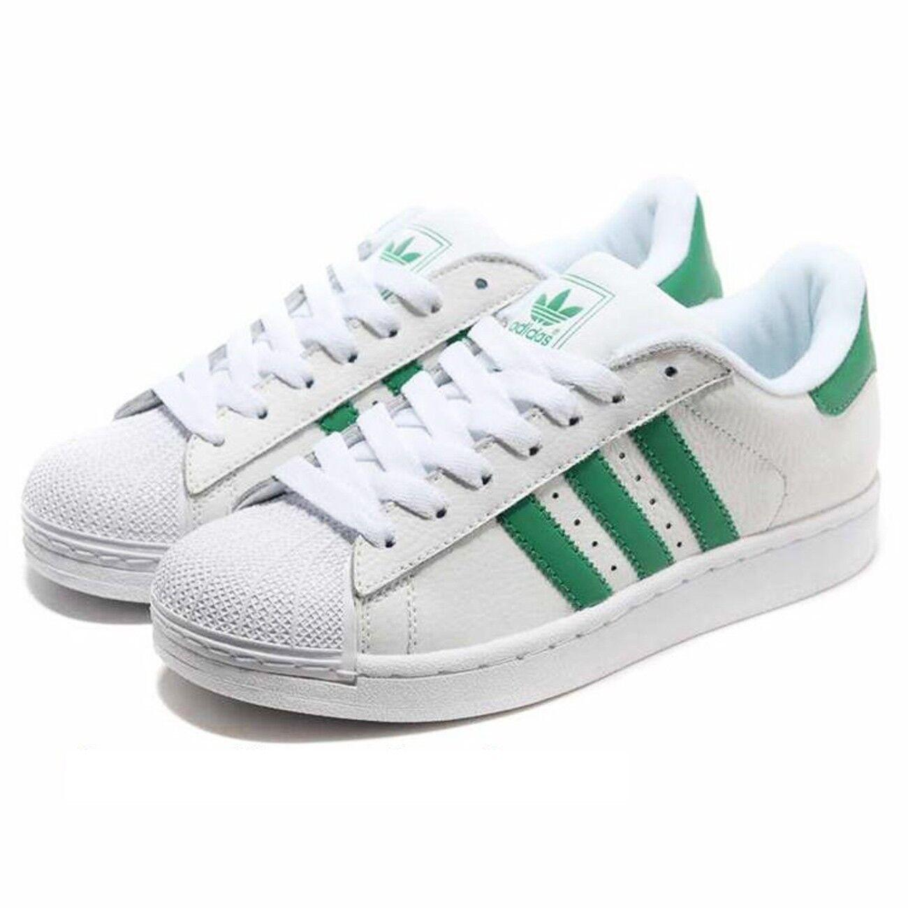 adidas men ` s 17.- superstar 2.trainers.white-green.große größen - 17.- s 19.clearance 8954a7