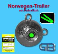 Norwegen Trailer Mit Mini Knicklicht Gelb 3.0 X 25mm, Jigkopf 50g - 170g,